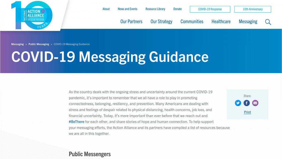 COVID-19 Messaging Guidance